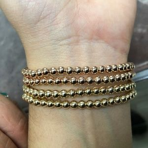 Jewelry - GOLD gold bead bracelet